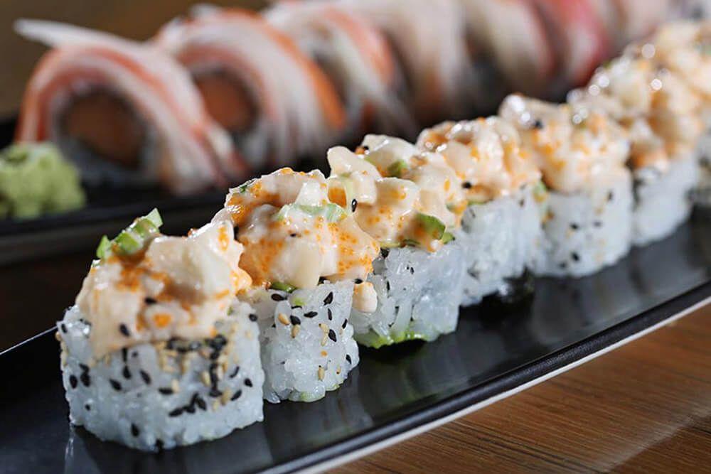 plato de sushi en centro de convenciones de costa rica