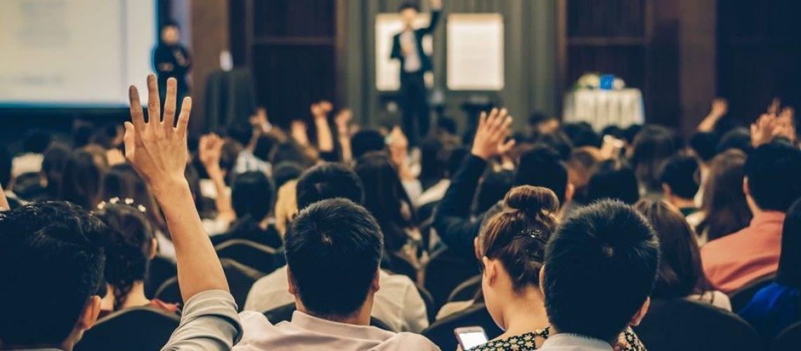 reunión y conferencia